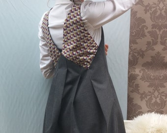 Flared Dress pleated / back origami / pockets. 14615.