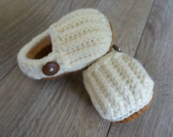 Ready to Ship, Crochet Baby Clogs