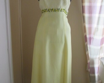 Long dress yellow 1960