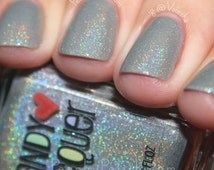 In A Fog - handmade holographic shimmer nail polish