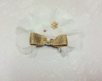 Flower Hair Clip, Chiffon Hair Clip, Organza Flower Hair Clip, Baby Girl Hair Clip, Baby Accessories, Elegant Hair Clip, Photo Prop