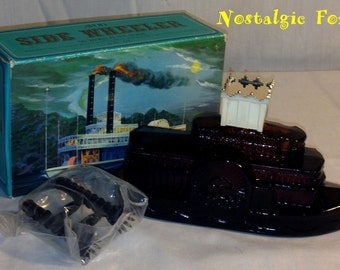 """Vintage 1971 AVON """"Side Wheeler"""" Tai Winds After Shave Steamboat Decanter~5 oz~ New Old Stock"""