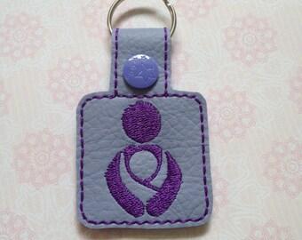Baby wearing key ring