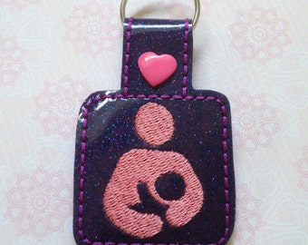 Breast feeding keyring