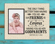 Gift for Godparents, Godparents gift, Personalized Godparents gift Godparents gift for friends, godparents photo gift