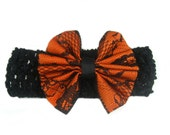Halloween Headband, Baby Halloween Headband, Baby Headband, Fall Headband, Toddler Halloween Bow baby girl gift