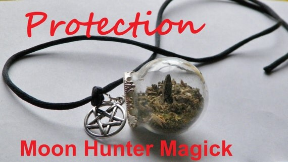 Protection Charm Amulet Mini Witch Ball Witch Bottle Pagan Wicca Reiki Charm Talisman