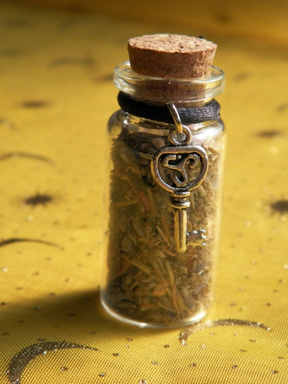 Overcoming Grief Release Witch Bottle Handmade Herbal Blend Ritual Supply Incense