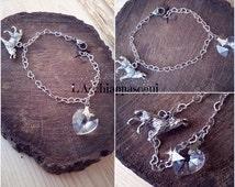Twilight Bracelet - Bella Swan Edward Cullen Jacob Balck Bracelet - Swarovski Heart and wolf Twilight saga
