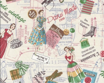 Paris Mode  (Color A) by Suzuko Koseki for  Yuwa of Japan