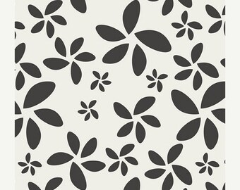 CLEARANCE Flora in Noir from Minimalista by Art Gallery Fabrics