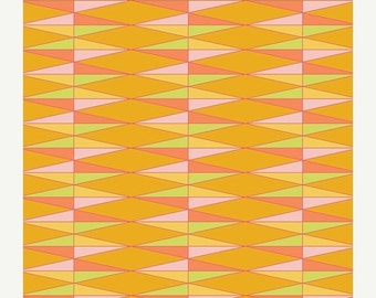 ON SALE Triangularily Yours in Carrot from Dreamin' Vintage by Jeni Baker for Art Gallery Fabrics