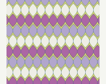 ON SALE Mod Pop in Lavender from Dreamin' Vintage by Jeni Baker for Art Gallery Fabrics