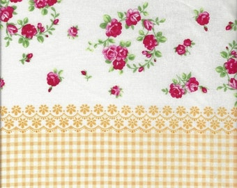 ON SALE Hankie Floral Stripe in Yellow from Flower Sugar by Lecien