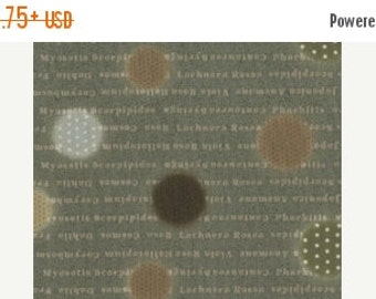 ON SALE Dots and Text in Green by Kinkame for Clothworks