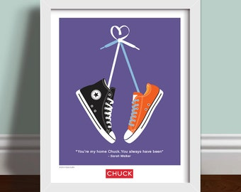 You're My Home/Sometimes The Nerd Gets The Girl - Chuck Quote Wall Art Print