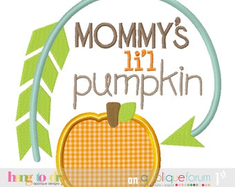 Mommy's Lil Pumpkin Halloween Thanksgiving Custom Tee Shirt - Customizable