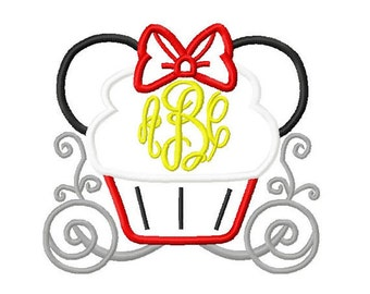 Cupcake Carriage Monogram Mouse Custom embroidered Disney Inspired Vacation Shirts for the Family! 65