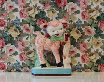 Vintage China Lamb Bookend Kitsch Cute
