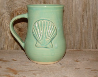 Green Celadon Sea Shell Mug