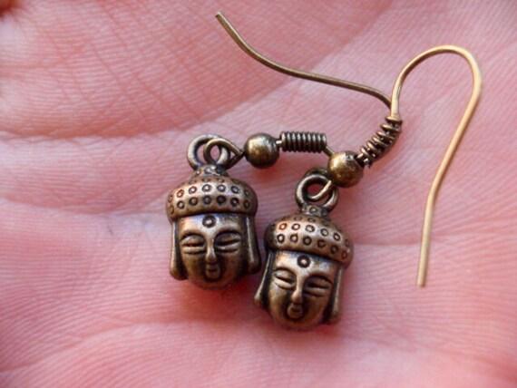 Buddha Earrings, Boho Bohemian Earrings, Yoga Jewelry, Spiritual Jewelry, Buddhist Jewelry, Women Teen Earrings, Drop Dangle Earrings