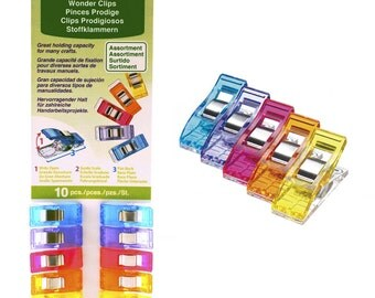 Clover Wonder Clips Rainbow Colors- 10 pack