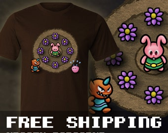 Zelda Bunny Link T-Shirt Mens & Ladies * Free Shipping * Great Gamer Gift
