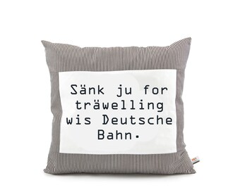 "Proverbs pillow ""Sänk ju for träwelling..."""