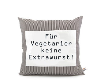 "Proverbs pillows ""For vegetarians..."""