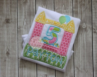 Bounce House Birthday Shirt for Girls or Boys - Personalized Birthday Shirt - Bouncy House