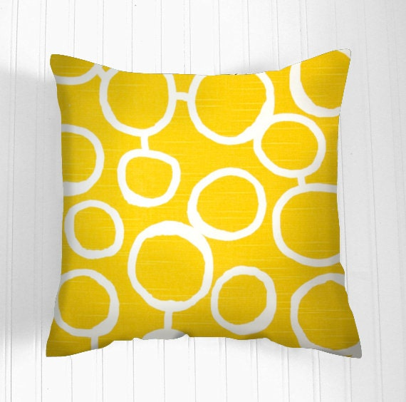 Items similar to YELLOW Pillow Cover- Decorative Pillows - Decorative Throw Pillow- Pillow ...
