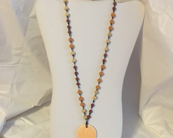 Fall necklace and bracelet set