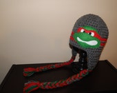 Teenage Mutant Ninja Turtle Hat, TMNT Hat, Superhero Hat,