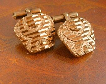 Rose gold cufflinks Spider Design Cuff links  Wedding Etched diamond cut Sparkling bright  formal wear tuxedo set