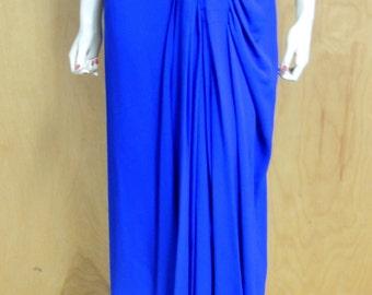1940s Marusia Original Royal Blue Dress