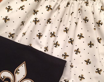 New Orleans Saints Print Twirl Skirt up to size 10