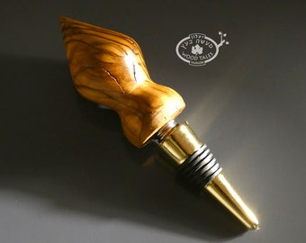 natural Handturned Bottle Stopper From Olive wood
