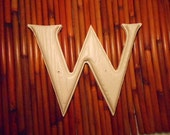 """Vintage Gerber St. Louis Plastic Molded 7 Inch Letter """"W"""" Indoor Outdoor Thick Wood Grain Paintable For Nursery, Business, Monogram Wreaths"""