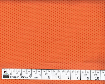 Spot On fabric - tiny tonal orange polka dots - Robert Kaufman - by the YARD