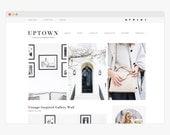 "Wordpress Theme - Wordpress Ecommerce Theme - Genesis Wordpress Blog Theme - ""Uptown"" Instant Digital Download"