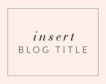 Insert Blog Title into Blogger or Wordpress Theme Header