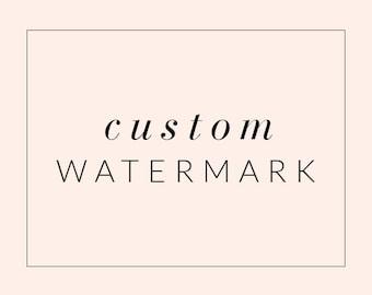 Custom Watermark Image - Blog Accessory