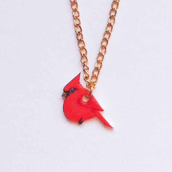 cardinal necklace by kirstinstride on etsy