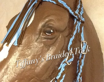 Fringe browband headstall custom colors