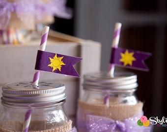 Tangled Inspired Mini Flags