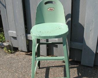 Industrial metal kitchen stool. 1930 - 40.Banc metal.