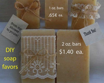 DIY Soap favors - Bridal shower favors - Wedding favors - soap favors -  beach favors - nautical favors