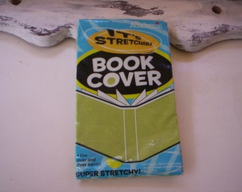 It's Academic/Stretchable book cover/Fabric book cover/Stretchable fabric book cover/lime green book cover