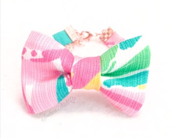 "Bow Bracelet with Lilly Pulitzer ""Multi All Nighter"""