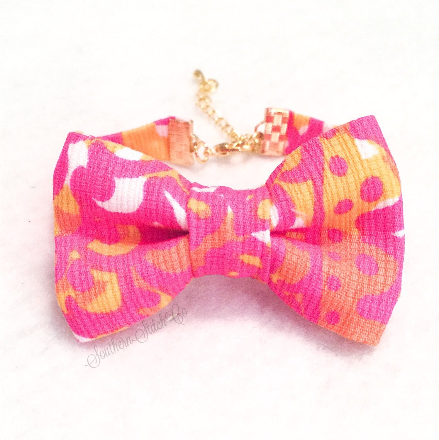 Bow Bracelet With Lilly Pulitzer Sea And Be Seen